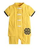 levne Baby Boys' One-Piece-Dítě Chlapecké Čínské vzory Denní / Dovolená Tisk Klasický styl / Základní Krátké rukávy Bavlna Kombinézy Světlá růžová