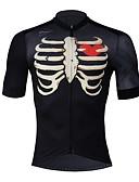 זול טרנינגים וקפוצ'ונים לגברים-SPAKCT בגדי ריקוד גברים חולצת ג'רסי לרכיבה - שחור אופניים ג'רזי, ייבוש מהיר