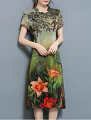 cheap Women's Dresses-Women's Chinoiserie Loose Dress - Floral