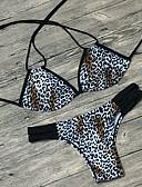 povoljno Bikini i kupaći 2017-Žene S naramenicama Bikini - Leopard Print / Osnovni / Sexy