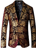 cheap Men's Jackets & Coats-Men's Slim Blazer - Floral, Print