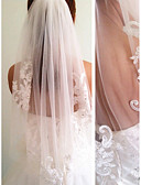 cheap Women's Swimwear & Bikinis-One-tier Modern Style Bridal Princess Simple Style Wedding Wedding Veil Elbow Veils 53 Fringe Splicing Lace Tulle