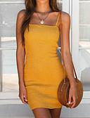 ieftine Rochii de Damă-Pentru femei De Bază Zvelt Pantaloni - Culoare solidă Galben / Cu Bretele / Ieșire / Sexy