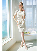 cheap Women's Dresses-ZIYI Women's Sophisticated Sheath Dress - Solid Color Cut Out