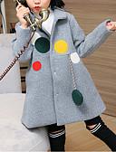 tanie Kurtki i płaszcze dla dziewczynek-Dzieci Dla dziewczynek Jendolity kolor Długi rękaw Bawełna Odzież puchowa / pikowana