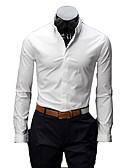 tanie Męskie koszulki polo-Koszula Męskie Podstawowy Jendolity kolor / Długi rękaw
