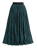 זול חצאיות לנשים-Ruched אחיד - חצאיות נדנדה בסיסי בגדי ריקוד נשים