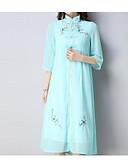ieftine Palton & Trench de Damă-Pentru femei Mărime Plus Size Sleeve Flare Bumbac Set - Mată, Rochii Plisată