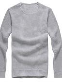 tanie Męskie koszulki polo-Męskie Sport / Weekend Aktywny Okrągły dekolt Szczupła Pulower Jendolity kolor Długi rękaw