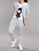 tanie Bluzy dla dziewczynek-Dzieci Dla dziewczynek Kreskówki Patchwork Długi rękaw Bawełna Komplet odzieży