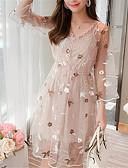 abordables Vestidos de Mujer-Mujer Delgado Pantalones - Un Color Rosa