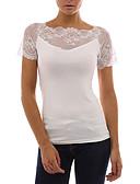 tanie T-shirt-T-shirt Damskie Podstawowy / Moda miejska, Koronka Wyjściowe Kwadratowy dekolt Rurki - Solidne kolory / Wiosna / Lato / Seksowny