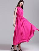 tanie Sukienki-Damskie Moda miejska Spodnie - Solidne kolory Czarny / Impreza / Maxi / Głęboki dekolt U / Asymetryczna