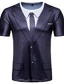 ieftine Maieu & Tricouri Bărbați-Bărbați Tricou De Bază - Geometric Imprimeu