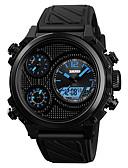 cheap Quartz Watches-SKMEI Men's Sport Watch Japanese Digital 50 m Water Resistant / Water Proof Alarm Chronograph PU Band Analog-Digital Casual Fashion Black - Black / Red Blue / Black Black / White One Year Battery Life