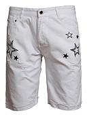tanie Męskie spodnie i szorty-Męskie Wzornictwo chińskie Szczupła Jeansy Spodnie Wszechświat / Kolorowy blok