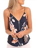 ieftine Bluze & Camisole Femei-Pentru femei Cu Bretele Tank Tops De Bază / Șic Stradă - Floral Imprimeu / Vară