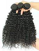 baratos Vestidos de Casamento-3 pacotes Cabelo Brasileiro Kinky Curly Cabelo Humano Extensões de Cabelo Natural 8-28 polegada Tramas de cabelo humano extensão / Venda imperdível Côr Natural Extensões de cabelo humano Todos