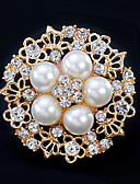 cheap Women's Skirts-Women's Brooches - Flower European, Fashion Brooch Gold / Silver For Wedding / Daily