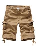 ieftine Pantaloni Bărbați si Pantaloni Scurți-Bărbați De Bază Mărime Plus Size Bumbac Pantaloni Scurți Pantaloni Mată / Sport