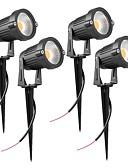 tanie Koszulki i tank topy męskie-ZDM® 4 szt. 7 W Światła do trawy Wodoodporny Ciepła biel / Zimna biel / Naturalna biel 12 V / 24 V Oświetlenie zwenętrzne 1 Koraliki LED