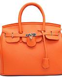 cheap Mother of the Bride Dresses-Women's Bags PU Tote Zipper Black / Orange / Red