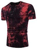 tanie Koszulki i tank topy męskie-T-shirt Męskie Podstawowy / Moda miejska Okrągły dekolt Solidne kolory / Krótki rękaw