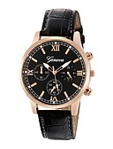 cheap Dress Watches-Men's Dress Watch Chinese Chronograph PU Band Fashion Black / Brown / Stainless Steel / SSUO LR626
