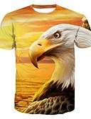 tanie Koszulki i tank topy męskie-T-shirt Męskie Podstawowy, Nadruk Bawełna Okrągły dekolt Zwierzę / Krótki rękaw