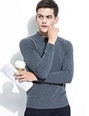 ieftine Maieu & Tricouri Bărbați-Bărbați Lână Manșon Lung Plover - Mată Guler Cămașă