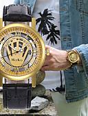 abordables Ropa interior para hombre exótica-Hombre Mujer Reloj de Vestir Reloj Esqueleto Reloj de Pulsera Japonés Cuarzo Piel Negro / Marrón Cronógrafo Huecograbado Creativo Analógico Lujo Clásico - Marrón Marrón / dorado Oro / Negro Un año