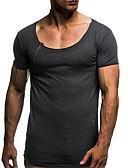 povoljno Muške majice i potkošulje-Majica s rukavima Muškarci - Osnovni Dnevno Jednobojni Blue & White