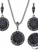 baratos Blusas Femininas-Conjunto de jóias - Resina Europeu Incluir Preto Para Diário / Brincos