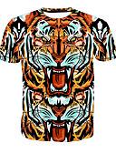 tanie Koszulki i tank topy męskie-Puszysta T-shirt Męskie Podstawowy Okrągły dekolt Zwierzę / Krótki rękaw / Długie