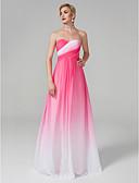 billige Aftenkjoler-A-linje Kæreste Gulvlang Chiffon Formel aften Kjole med Kryds & Tværs ved TS Couture®
