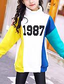 tanie Bluzy dla dziewczynek-Dzieci Dla dziewczynek Aktywny Nadruk Długi rękaw Długie Bawełna Bluzka
