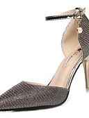 abordables Vestidos de cóctel-Mujer Zapatos PU Verano Pump Básico Tacones Tacón Stiletto Dedo Puntiagudo Dorado / Negro / Plata