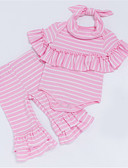 cheap Baby Girls' Clothing Sets-Baby Girls' Striped Short Sleeves Clothing Set