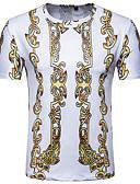 tanie Koszulki i tank topy męskie-T-shirt Męskie Vintage / Podstawowy, Nadruk Okrągły dekolt Geometric Shape / Krótki rękaw