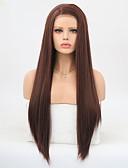 billige Nattøj til damer-Syntetisk Lace Front Parykker Lige Frisure i lag Syntetisk hår Varme resistent Mørkebrun Paryk Dame Lang Blonde Front / Ja