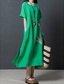 baratos Vestidos de Mulher-Mulheres Solto Calças - Floral Bordado Verde