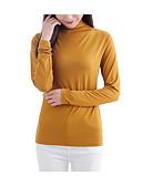 abordables Tops-Mujer Vintage / Básico Festivos Camiseta Un Color