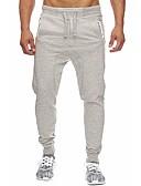 abordables Ropa Interior y Calcetines de Hombre-Hombre Deportivo / Básico Algodón Pantalones de Deporte Pantalones - Un Color Negro