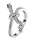 cheap Women's Jumpsuits & Rompers-Women's Cubic Zirconia Band Ring - S925 Sterling Silver Ladies, Fashion Jewelry Silver For Party Daily 6 / 7 / 8 / 9