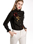 cheap Women's Tops-By Megyn Women's Basic Shirt - Solid Colored Floral