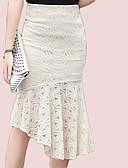 זול חצאיות לנשים-חלול חיצוני אחיד - חצאיות בתולת ים \חצוצרה מידות גדולות בגדי ריקוד נשים