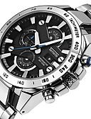cheap Sport Watches-Men's Dress Watch Japanese Quartz 30 m Water Resistant / Water Proof Calendar / date / day Chronograph Stainless Steel Band Analog Luxury Elegant Black / Silver - Silver Black / White Black / Silver