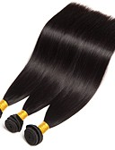 cheap Women's Pants-3 Bundles Brazilian Hair Straight Human Hair Human Hair Extensions 8-28 inch Human Hair Weaves Hot Sale / Shedding Free / Tangle Free Natural Color Human Hair Extensions Women's