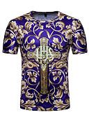 billige Hættetrøjer og sweatshirts til herrer-Herre - Blomstret Farveblok Trykt mønster Aktiv Basale T-shirt