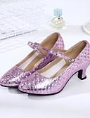 preiswerte Tanzkleidung für Balltänze-Damen Schuhe für modern Dance Kunstleder Absätze Maßgefertigter Absatz Maßfertigung Tanzschuhe Gold / Silber / Purpur / Innen